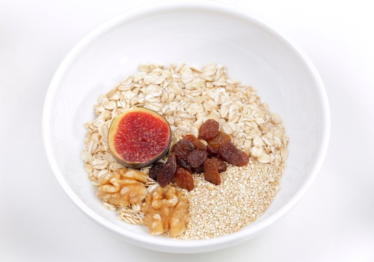 delicious breakfast with cereal mix and berries by Restaurant Centonze